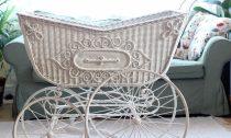 Antik Nostalgie Kinderwagen 1900